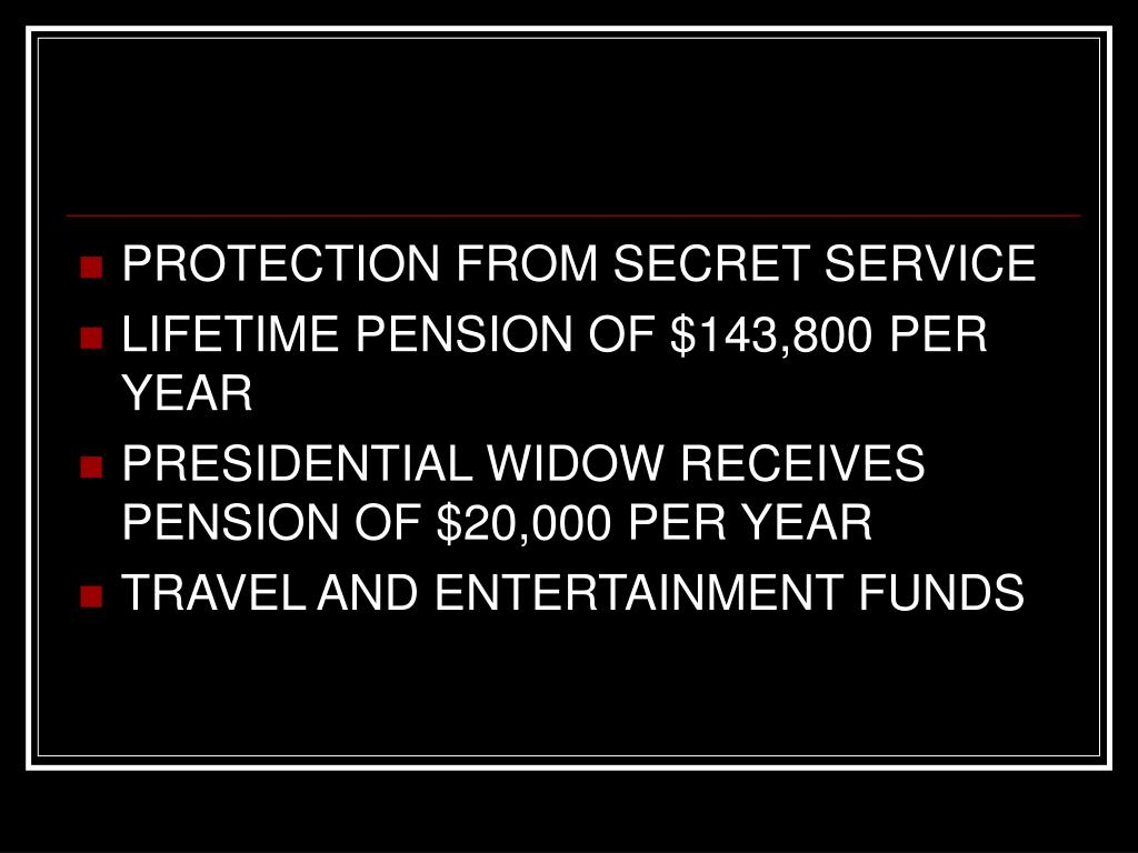 PROTECTION FROM SECRET SERVICE