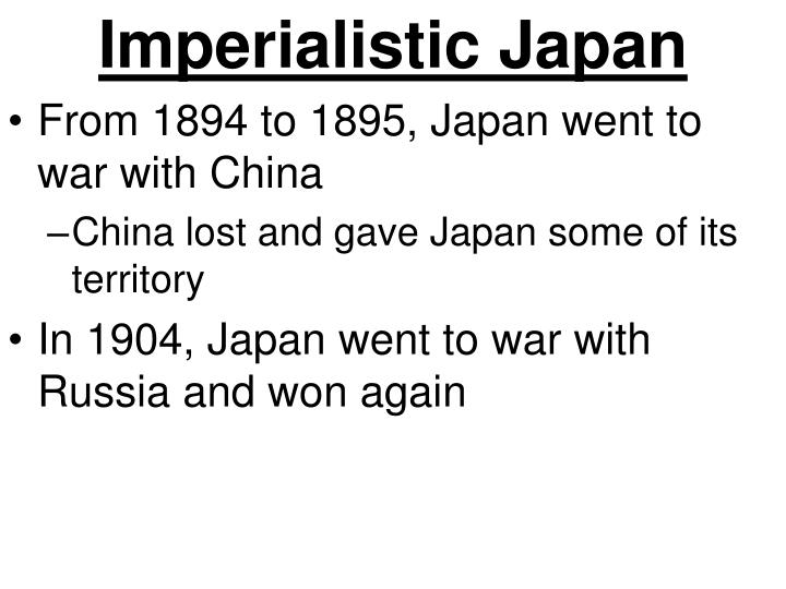 Imperialistic Japan