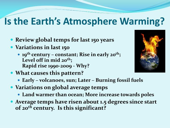 Is the earth s atmosphere warming