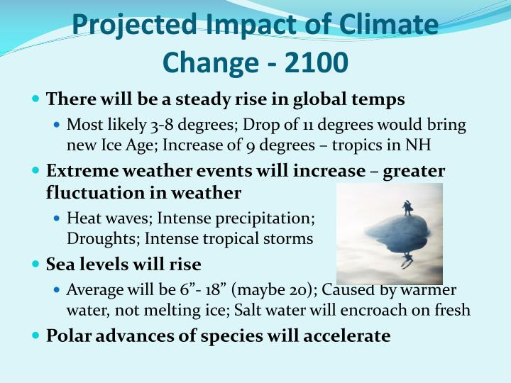 Projected Impact of Climate Change - 2100