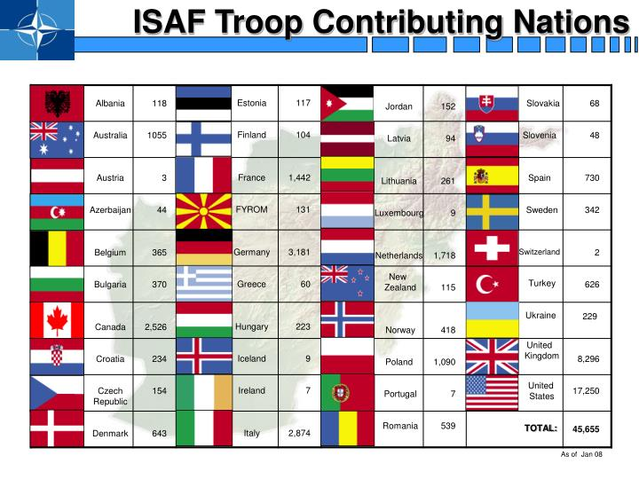 ISAF Troop Contributing Nations
