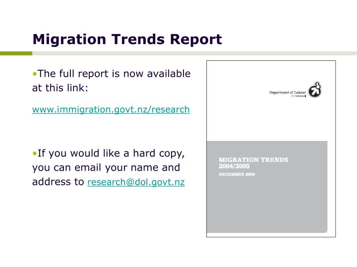 Migration Trends Report