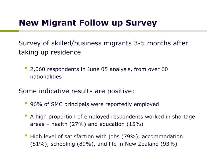 New Migrant Follow up Survey