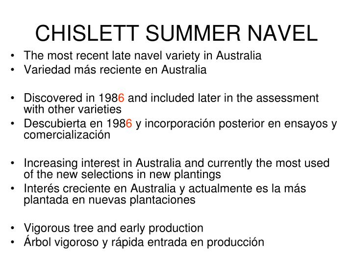 CHISLETT SUMMER NAVEL