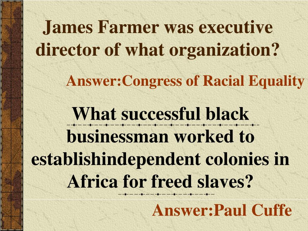 James Farmer was executive director of what organization?
