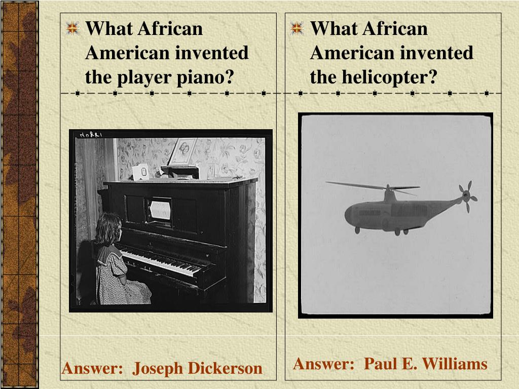 What African American invented the player piano?