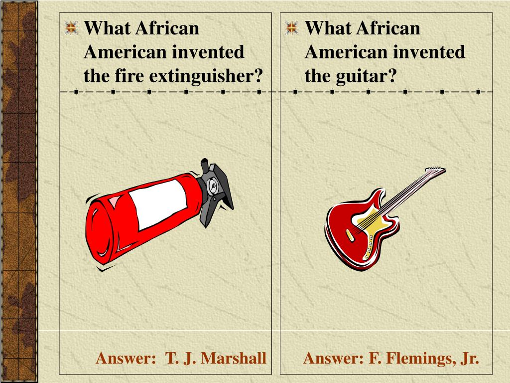 What African American invented the fire extinguisher?