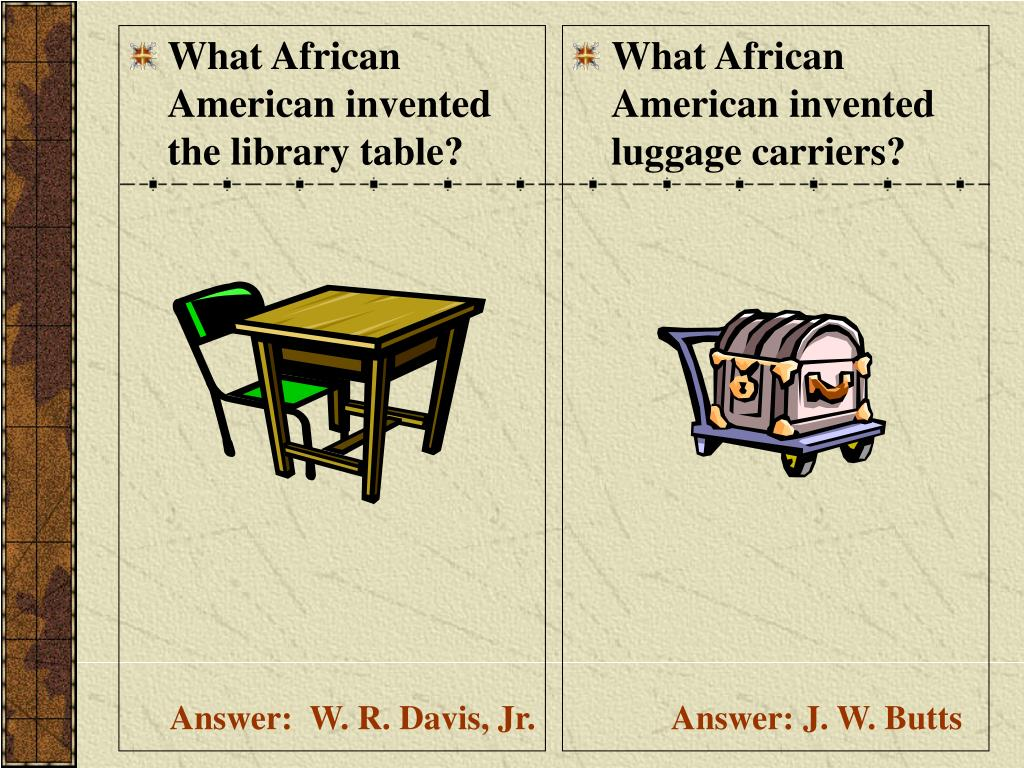 What African American invented the library table?