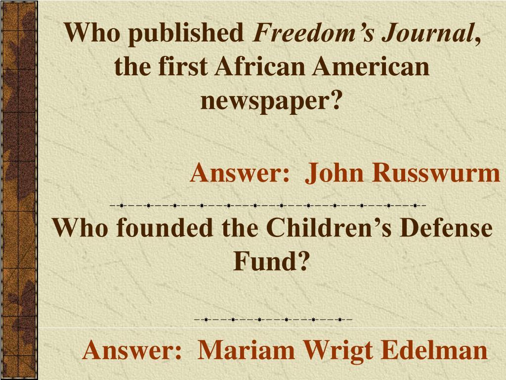 Who published