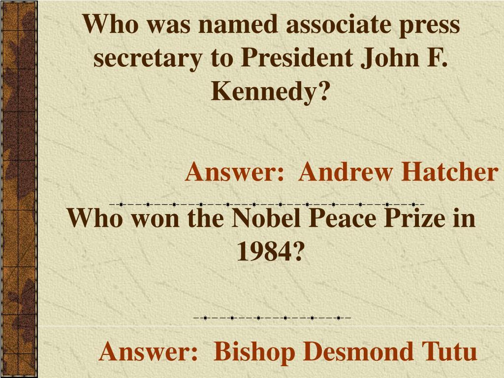 Who was named associate press secretary to President John F. Kennedy?