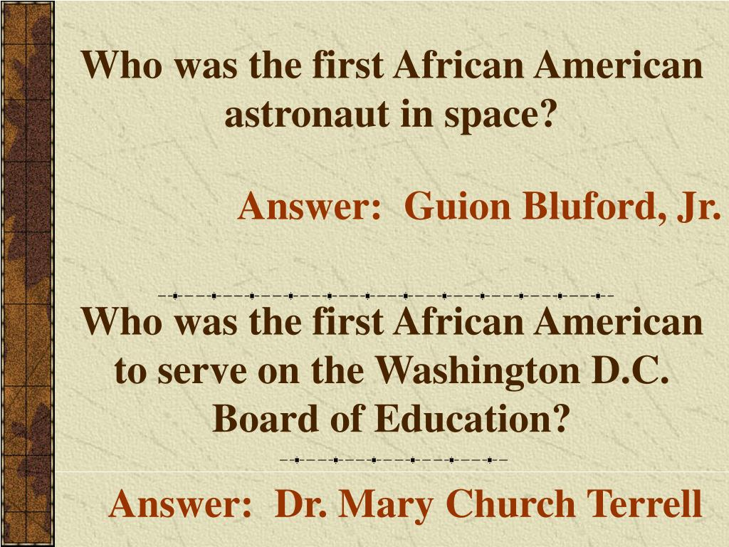 Who was the first African American astronaut in space?