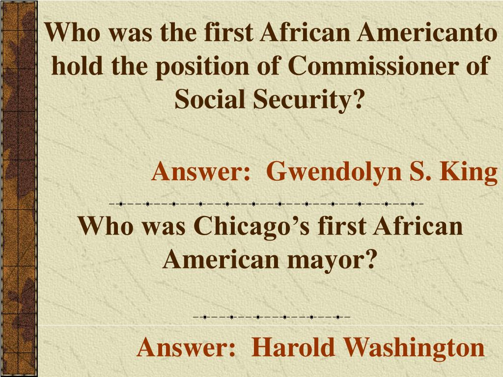 Who was the first African Americanto hold the position of Commissioner of Social Security?