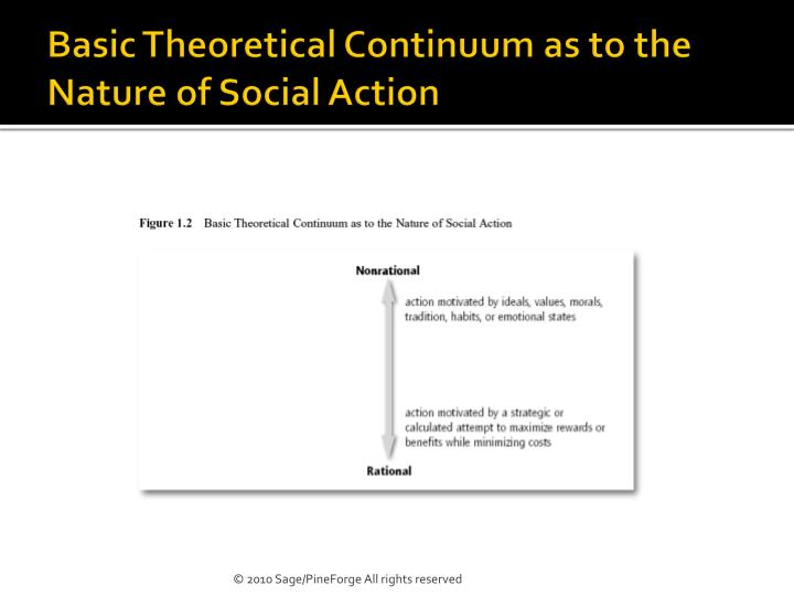 Basic Theoretical Continuum as to the Nature of Social Action