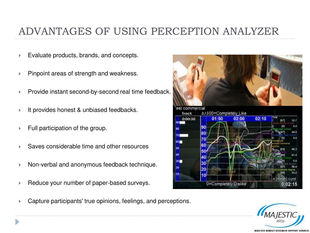 ADVANTAGES OF USING PERCEPTION ANALYZER