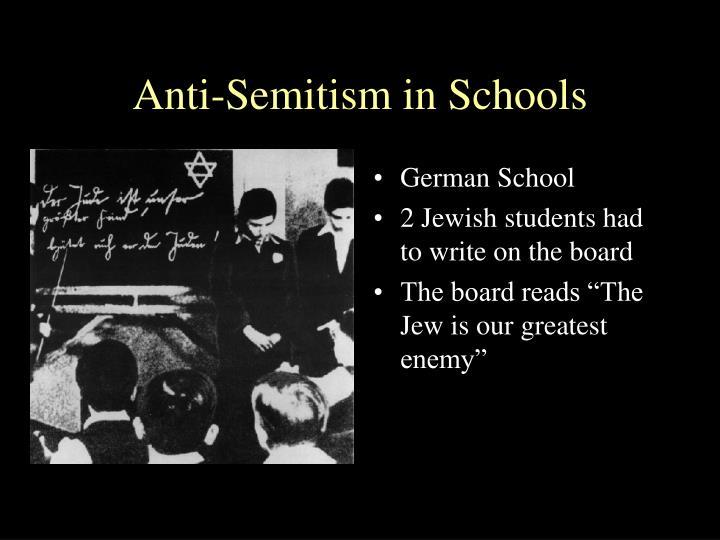Anti-Semitism in Schools