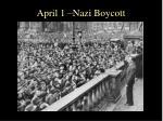 april 1 nazi boycott