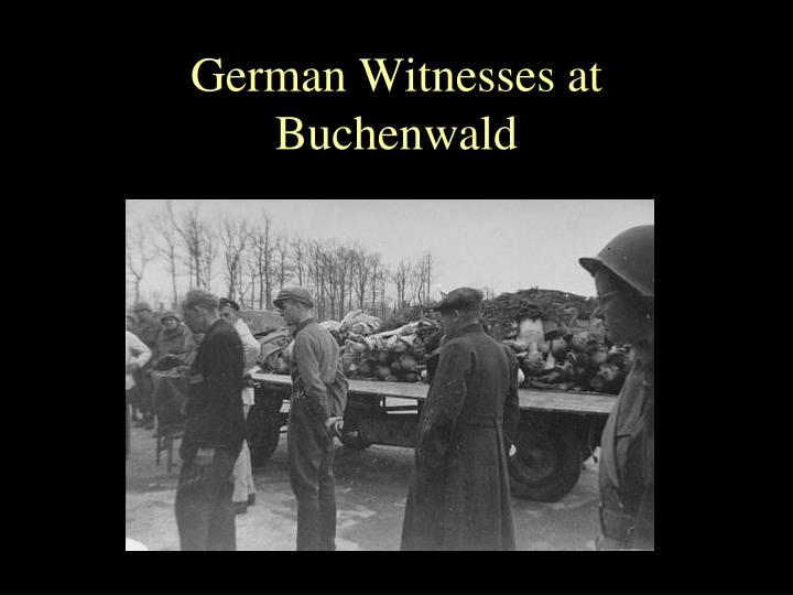 German Witnesses at Buchenwald