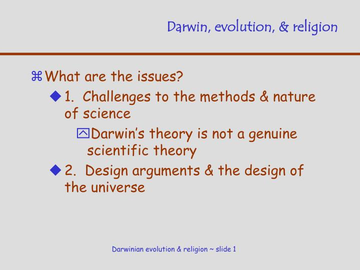 Darwin evolution religion
