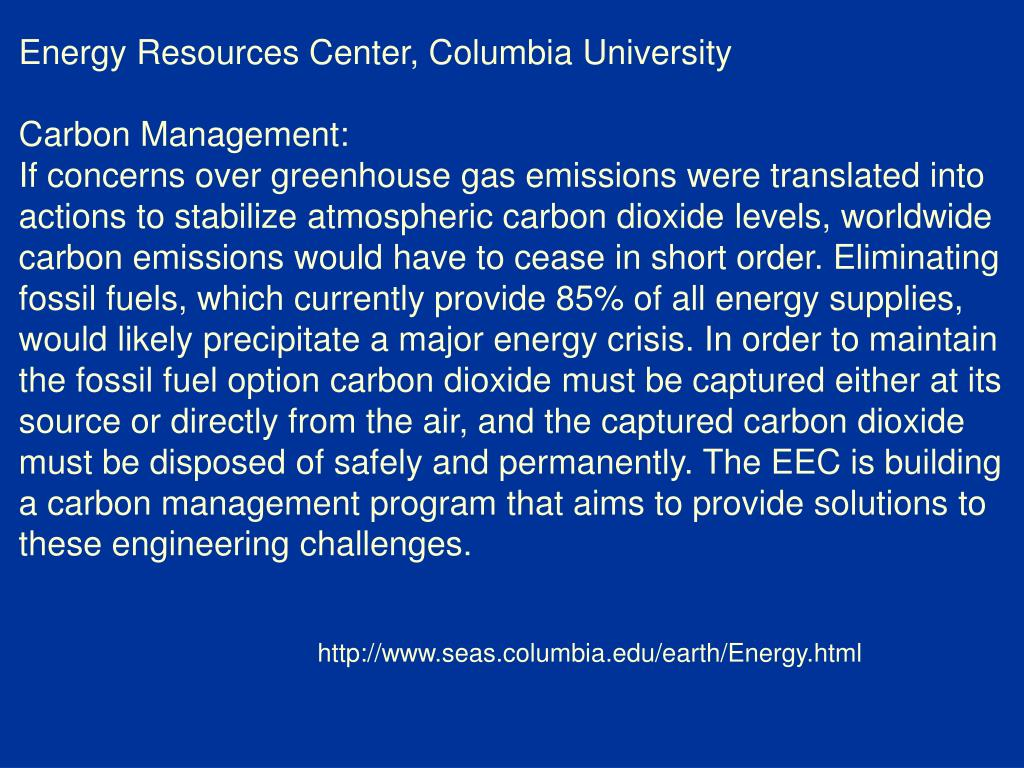 Energy Resources Center, Columbia University