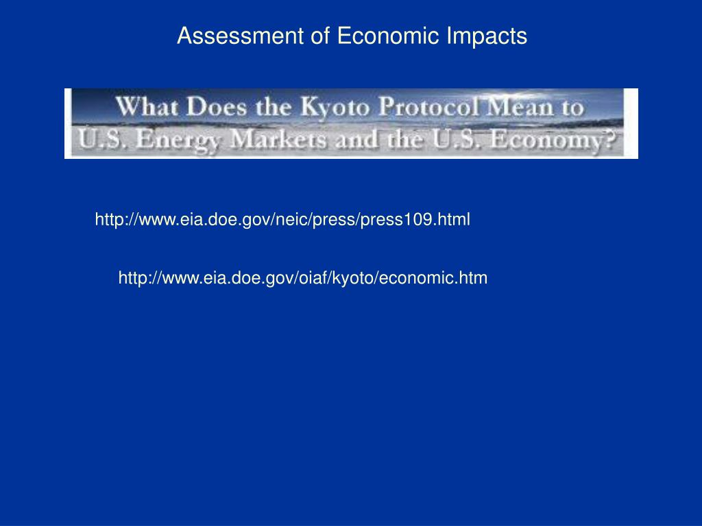Assessment of Economic Impacts