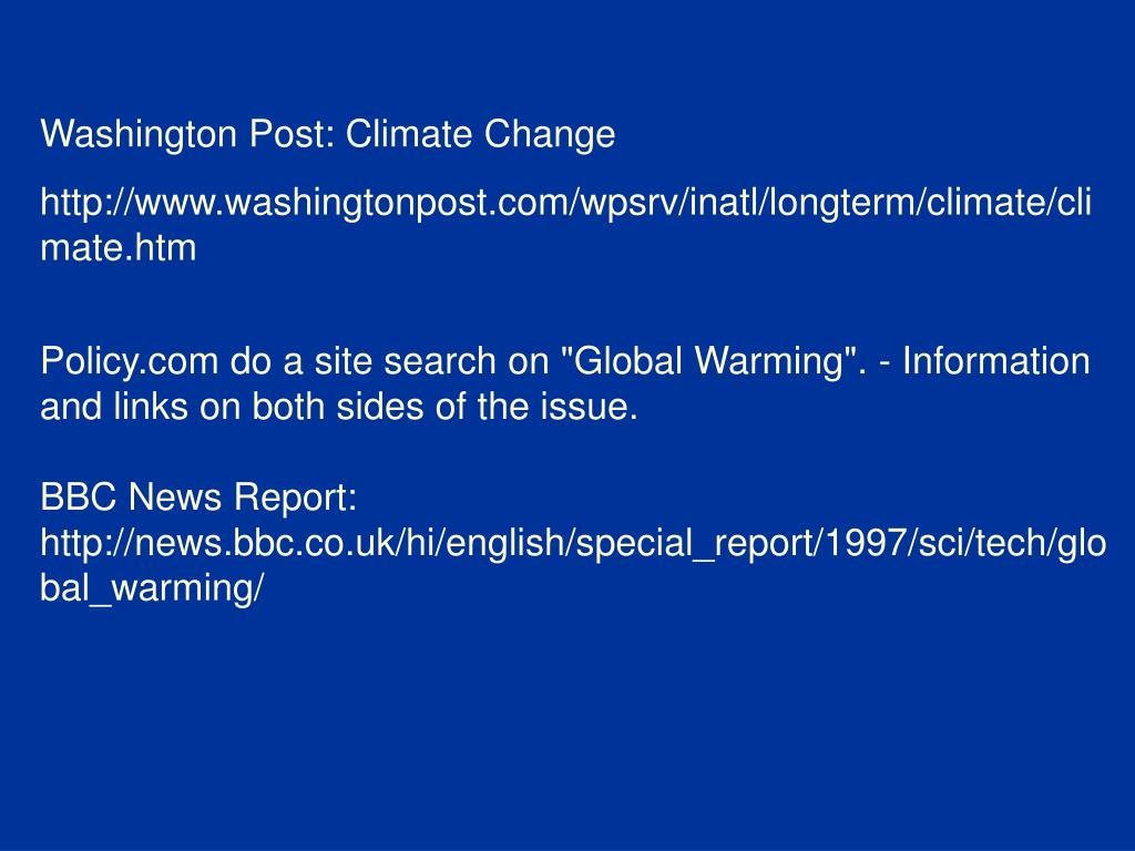 Washington Post: Climate Change