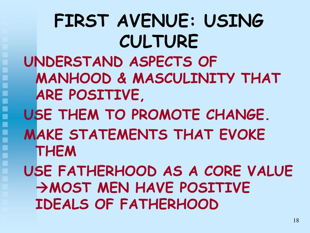 FIRST AVENUE: USING CULTURE