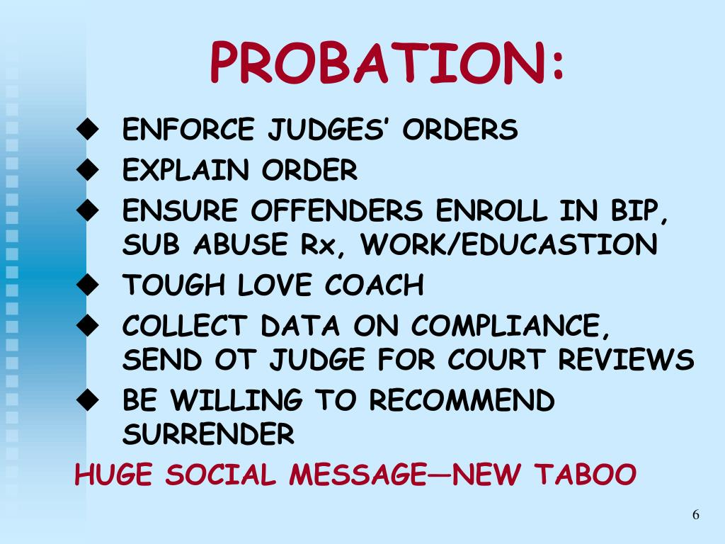 PROBATION: