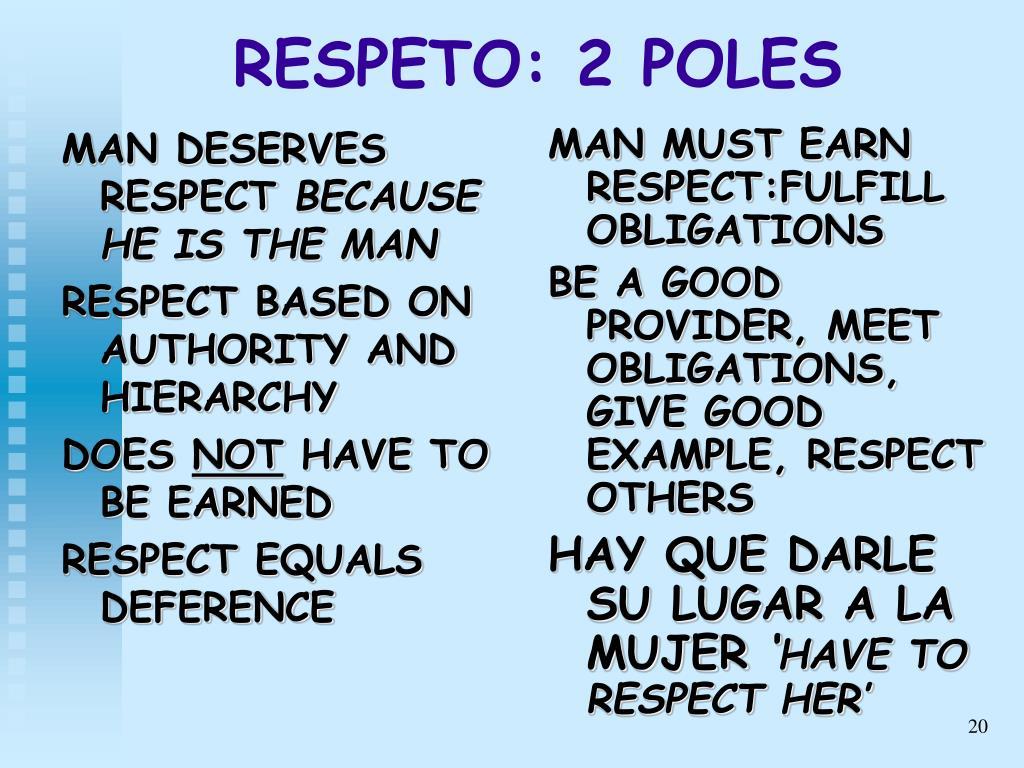 MAN DESERVES RESPECT
