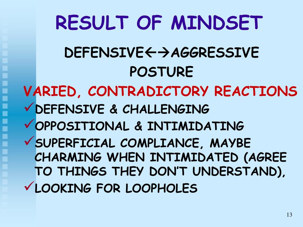 RESULT OF MINDSET