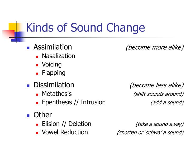 Kinds of sound change