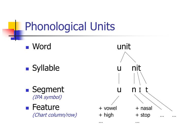 Phonological Units