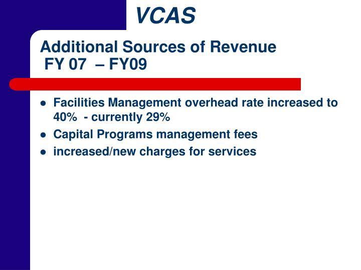 Additional Sources of Revenue