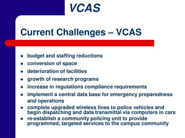 Current Challenges – VCAS