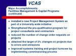 major accomplishments facilities management capital programs continued