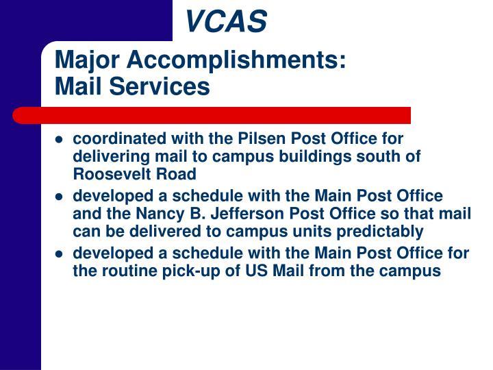 Major Accomplishments: