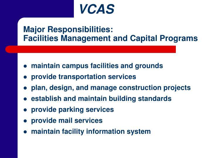 Major Responsibilities:
