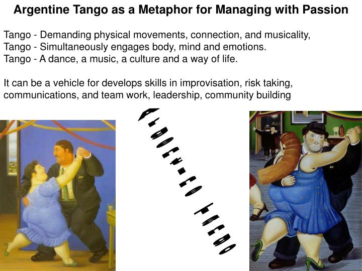 Argentine Tango as a Metaphor for Managing with Passion