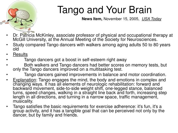 Tango and Your Brain