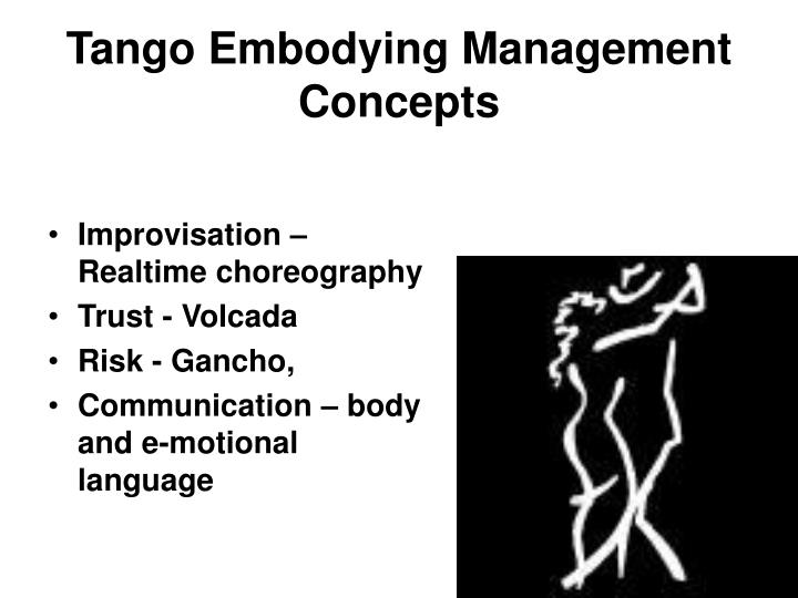 Tango Embodying Management Concepts