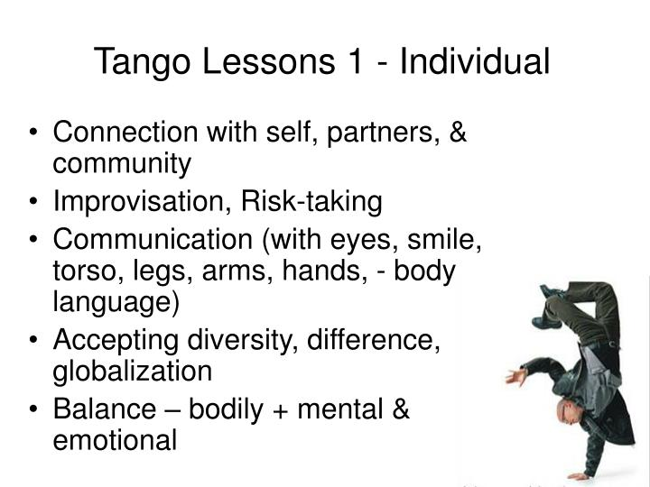 Tango Lessons 1 - Individual