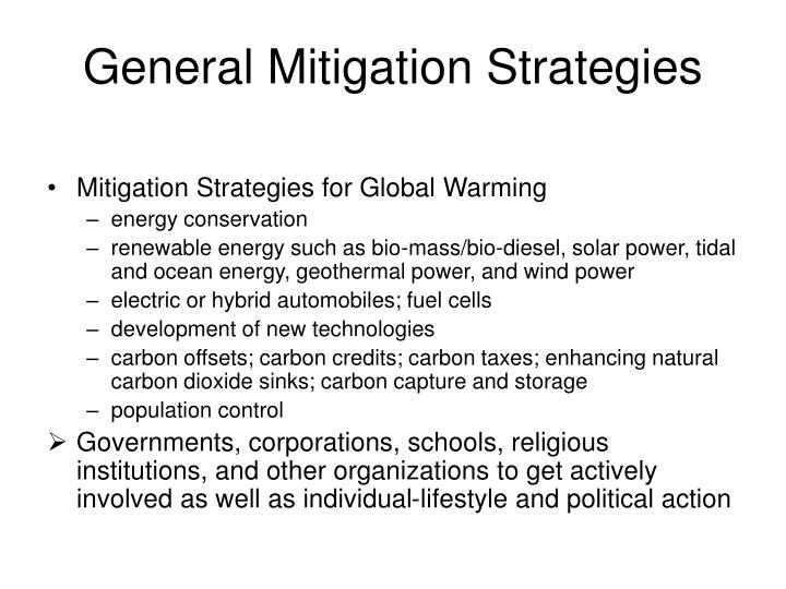 General Mitigation Strategies