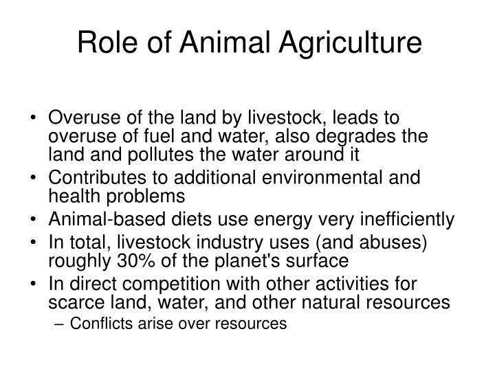 Role of Animal Agriculture