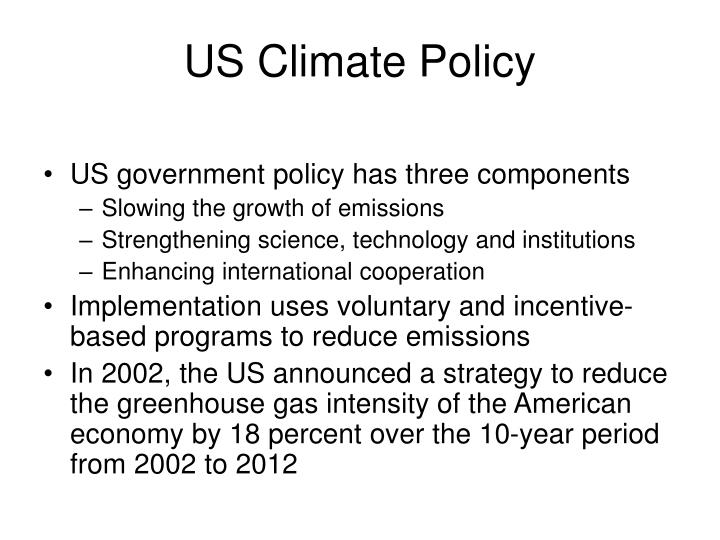 US Climate Policy