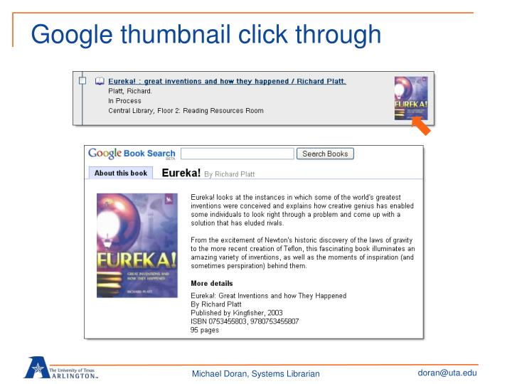 Google thumbnail click through