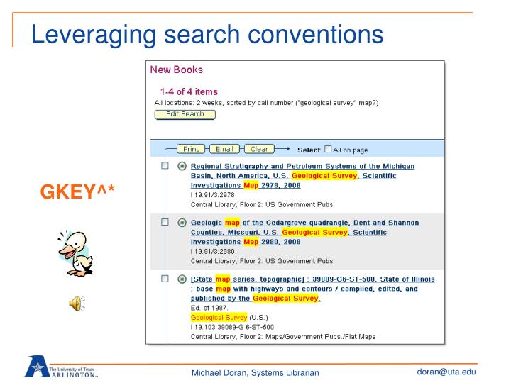 Leveraging search conventions