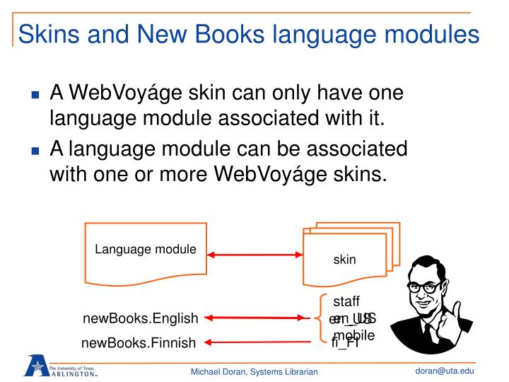 Skins and New Books language modules