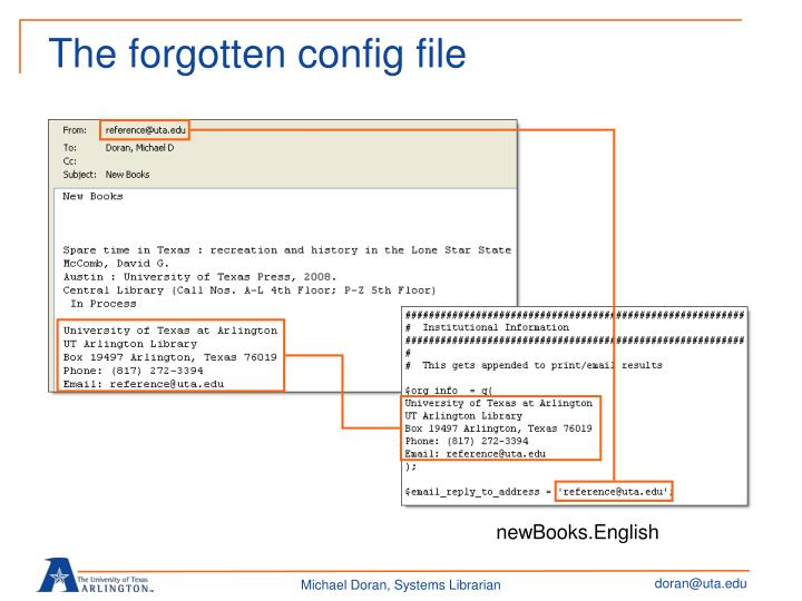 The forgotten config file