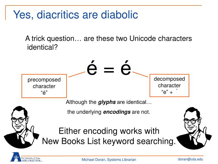 Yes, diacritics are diabolic