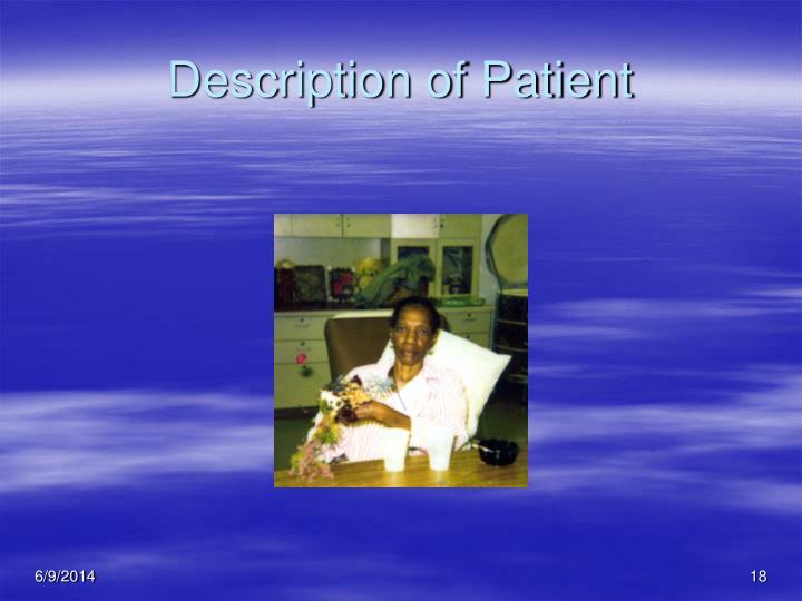 Description of Patient