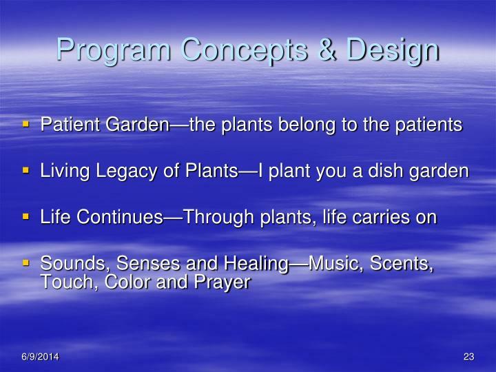 Program Concepts & Design